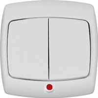 Выключатель WESSEN RONDO S56-051-BI скр.уст. 2-кл с индикатором (250В,6А)