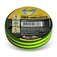 Изолента AVIORA желто-зеленая 15мм*20м арт.305-024/305-059