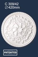 Розетка потолочная С309/42 (1*10)