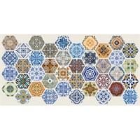 Панель ПВХ Граненый шестигранник Пэчворк 973х492мм ТП10015623