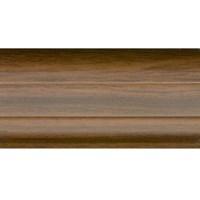 Плинтус ПВХ 55мм VOX 2,5 м напольный Орех темный-528