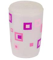 Подставка д/зубных щеток АКВАЛИНИЯ розовые квадраты 8521П