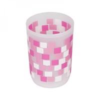 Стакан АКВАЛИНИЯ розовые квадраты 8521С