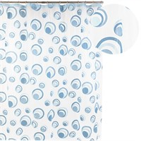 Штора для ванной АКВАЛИНИЯ (круги голубые) 1,8*1,8 002Е-43