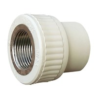 Муфта SANTEHPLAST 25*1 (сер) метал внутр.рез. 01-02200-062а