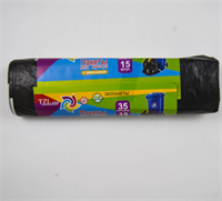 Пакеты для мусора с затяжками ТМ TZLine 35л 15шт LDPE