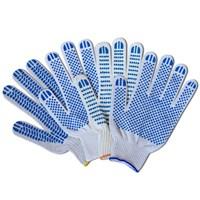 Перчатки вязаные х/б 45 гр. серые