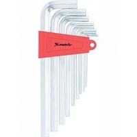 Набор MATRIX ключей имбусовых 2,0*12мм, CrV, 9шт, удлиненные сатин 12302