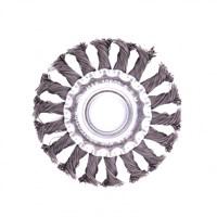 Щетка MATRIX для УШМ,100 мм, посадка 22,2 мм, плоская, крученая проволока 0,5 мм 74630