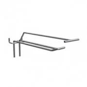 Крючок для перфорации двойной из металла, дл. 10,16см PEG16-4
