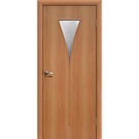Полотно дверное Сибирь-Профиль остекленное ПО Рюмка 800 Миланский орех (ПО-О8)