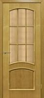 Полотно ОМИС дверное Капри (кора бронза) ПОС 900*2000*40 дуб натуральный тонированный