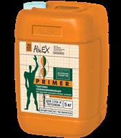 Грунтовка ALINEX Primer для стен и потолков,полимерная,морозостойкая 5кг