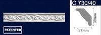 Плинтус СОЛИД потолочный 1,5м С730/40 белый 30мм*27мм (1уп-100 шт)