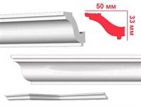 Плинтус ПЛИНТЭКС потолочный 2м G (G50/33) (63шт)