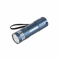 Фонарик STERN бытовой алюминиевый, синий корпус, 9 LED, 3хААА 90505