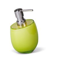 Дозатор Tatkraft REPOSE GREEN для жидкого мыла ударопрочный акрил12325