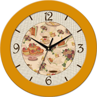 Часы настенные,пластик,круглые ,асс. рис.Д.25 см.161245