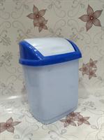 Ведро 5л с крутящ.крышкой голубое пластм.251082