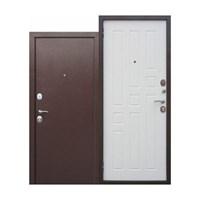 Дверь металлическая 7,5см Гарда Медный антик Белый ясень (860мм) правая