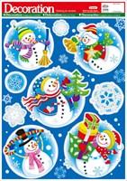 Элемент декоративный ROOM DECOR Веселые снеговики WDX 1914A