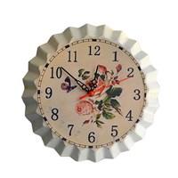 Часы настенные,метал.,диз.Бутылочная пробка,асс. рис.Д35 см.161362