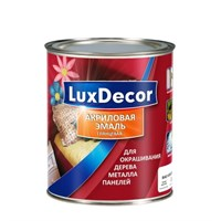 Эмаль LUX DECOR акриловая глянцевая Черный бриллиант 0,75л 015266
