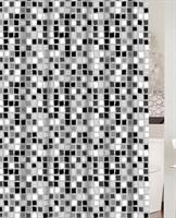 Штора для ванной PRIMANOVA PARADISE GREY 180*200, PVC D-20432