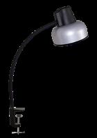 Светильник ТРАНСВИТ настольный Бета СШ на струбцине, гибкая стойка 450 мм, Е27, 60Вт, 220Вт, серебро