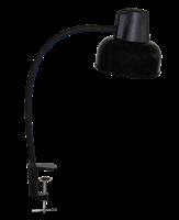 Светильник ТРАНСВИТ настольный Бета СШ на струбцине, гибкая стойка 450 мм, Е27, 60Вт, 220Вт, черный