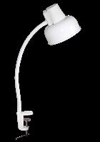 Светильник ТРАНСВИТ настольный Бета СШ на струбцине, гибкая стойка 450 мм, Е27, 60Вт, 220Вт, белый