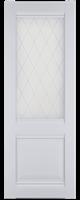 Полотно ЛЕСКОМ дверное Экшпон Венеция ясень белый витражное стекло 60