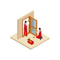 Установка двери (дерево)