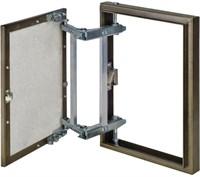 Люк ЭРА под плитку 400*400 на петле, окрашенный металл D4040 ceramo steel