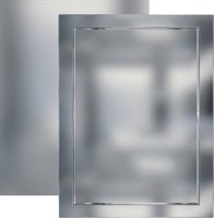 Люк-дверца ЭРА ревизионная 218*218 с фланцем 196*196 ABS, декоративный Л2020 Chrome