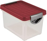Ящик для хранения SYSTEMA бордовый 19л. BQ1002БРД