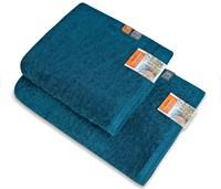 Комплект полотенец ВАСИЛИСА Буржуа Нуво 1-45*90, 1-70*130 с лентой капучино Moonlight 100% хлопок