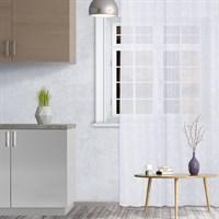 Штора кухонная Т453 белая 145*250см, пэ 100% 4021215