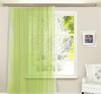 Штора-вуаль однотонная 145*260см светло-зеленая, п/э 100% 3984539