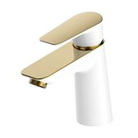 Смеситель IDDIS CLOUD для умывальника белый/золото CLOWG00i01