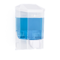 Диспенсер FLOSOFT для жидкого мыла 500мл. белый 10*8*16,5см D-SD40