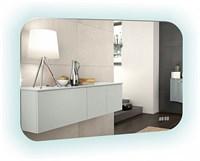 Зеркало LED ШАМПАНЬ-4 часы, выключатель-датчик на движение 800х550