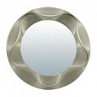 Зеркало QWERTY декоративное Гавр серебро 25см D-17см 74041