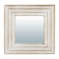 Зеркало QWERTY декоративное Кале белый, 25*25 см D-14 см 74057