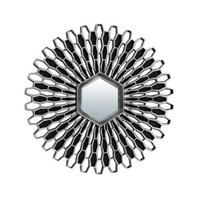 Зеркало QWERTY декоративное Лимож серебро 25см, размер зеркала 7*6.2см 74053