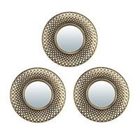 Комплект декоративных зеркал QWERTY Булонь ( 3шт)бронза 25 см, D-12 см 74054