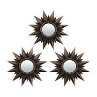 Комплект декоративных зеркал QWERTY Лилль ( 3шт) бронза 25 см D-8 см 74050