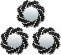 Комплект декоративных зеркал QWERTY Тулон ( 3шт)серебро 25 см D-12 см 74046