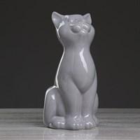 Ваза Кошка! серая 25см 4932841