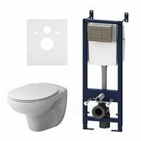 Комплект AM.PM: инстал. с клав. глянц.хром с подвесн.безоб. унитазом Sense с сид-ем м/лифт IS3741700
